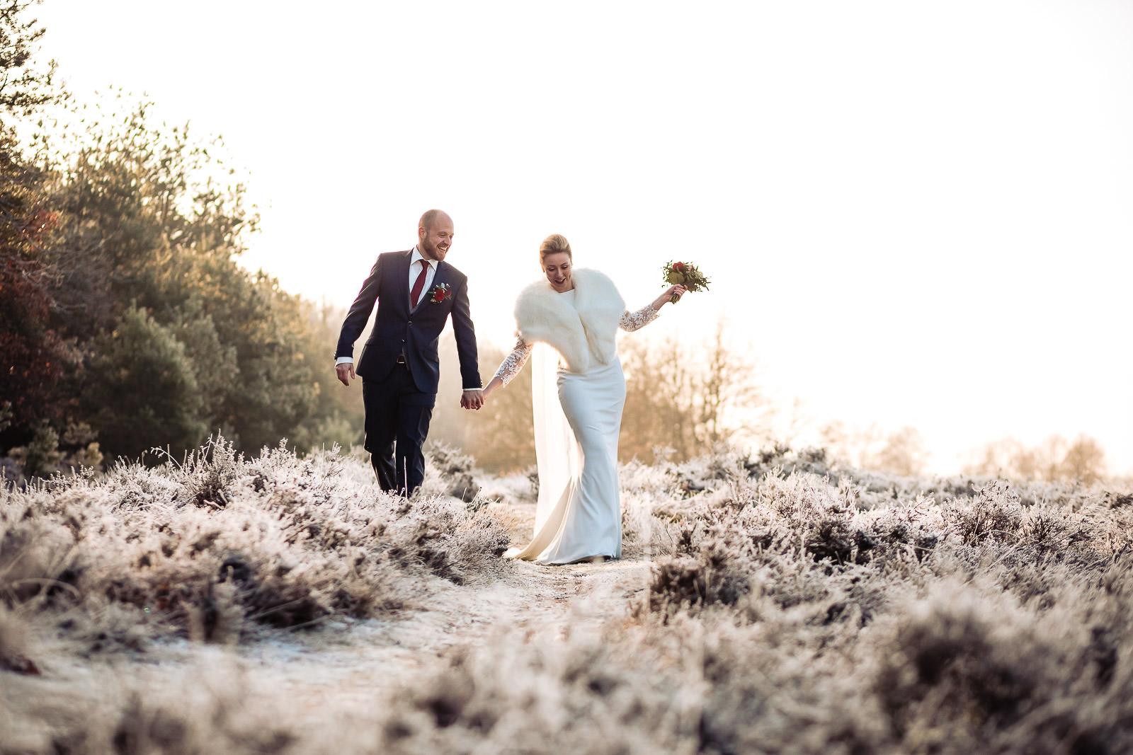 Bruidsfotograaf | Winterbruiloft | Sofie & Simon